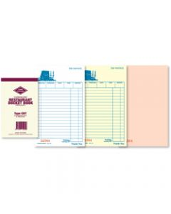 ZIONS CBT DOCKET BOOKS,Triplicate Carbonless,25 Sets 170mm x 100mm