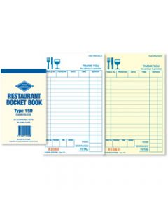 ZIONS 15D DOCKET BOOK,C/Less Duplicate 165X95mm