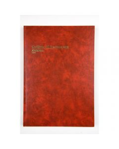 COLLINS ACCOUNT 3880 SERIES,A4 Journal Red