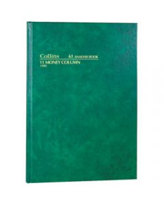 COLLINS ANALYSIS 61 SERIES,A4 11 Money Column Green