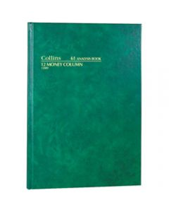 COLLINS ANALYSIS 61 SERIES,A4 12 Money Column Green