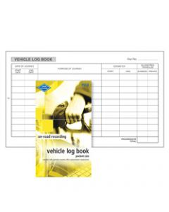 ZIONS PVLB VEHICLE LOG BOOK,Pocket 180X110mm