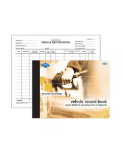ZIONS VRB VEHICLE RECORD BOOK,Vehicle Expense Rec 165X220mm