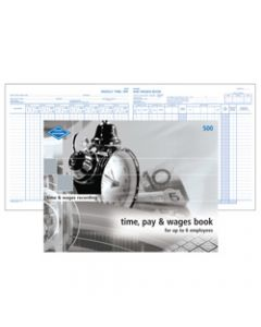 ZIONS PAY & WAGES BOOK,Number 500 Small,210mm x 285mm
