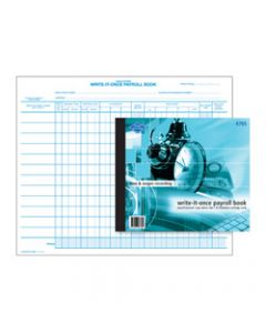 ZIONS 676S PAYROLL BOOK,Write It Once 270X335mm