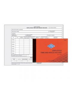 ZIONS 76SB TIME & WAGES BOOK,145X210mm