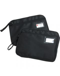 MARBIG CONVENTION SATCHEL,Fabric Zippered Black,W390mm x H290mm