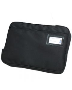 MARBIG CONVENTION SATCHEL,Fabric Expanding Zippered Blk,W410mm x H330mm