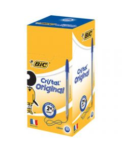 BIC CRISTAL BALLPOINT PENS,Blue Pack of 50
