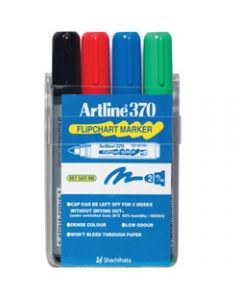 ARTLINE 370 FLIPCHART MARKERS,Bullet Assorted Colours,Pack of 4