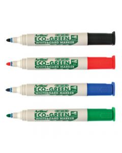 ARTLINE 527 WHITEBOARD MARKERS,Eco Green Medium Bullet,Assorted Colours Pack of 4