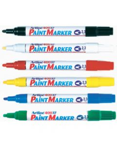 ARTLINE 400XF PAINT MARKERS,Medium Bullet Assorted Colours,Pack of 12