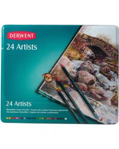 DERWENT ARTIST PENCILS,Assorted Pack of 24