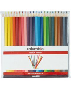 COLUMBIA COLOUR SKETCH PENCILS,Assorted Colours,Wallet of 24