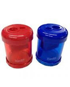 BANTEX CANISTER SHARPENER,Double Hole Red & Blue