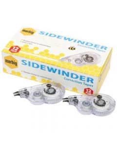 MARBIG CORRECTION TAPE,Side Winder 5mm x 8m,Pack of 12