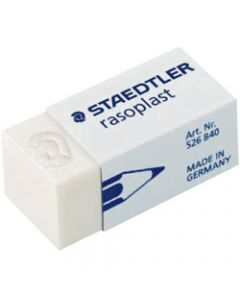 STAEDTLER RASOPLAST ERASERS,Small 33x16x13mm For Pencil