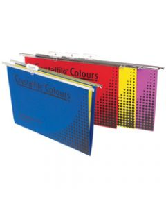CRYSTALFILE COLOURS SUSP FILES,Enviro F/C Complete Assorted,Pack of 25
