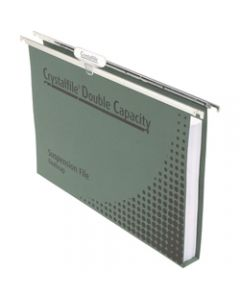 CRYSTALFILE SUSPENSION FILES,Enviro Double Cap, with Tabs,Box of 50