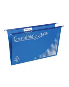 CRYSTALFILE SUSPENSION FILES,PP Extra, Complete Blue,Box of 20