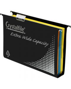 CRYSTALFILE SUSPENSION FILES,PP Complete Extra Wide 50mm,Box of 10