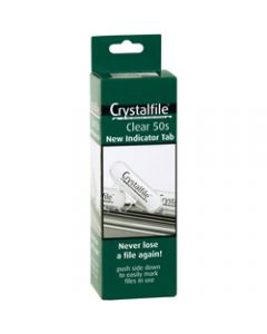 CRYSTALFILE TABS,Indicator New Style Clear,Pack of 50