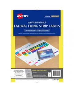 AVERY L7174 LATERAL FILING LBL,A4 4 Per Sheet,Box of 400