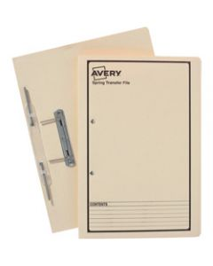 AVERY SPRING TRANSFER FILE,Buff Printed Black