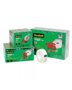 SCOTCH 810-4 MAGIC TAPE,Multipack 19mmx25m,Pack of 4