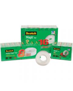 SCOTCH 810-8 MAGIC TAPE,Multipack 19mmx25m,Pack of 8
