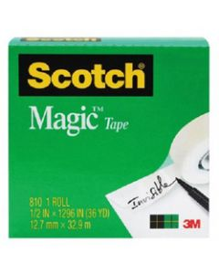 SCOTCH 810 MAGIC TAPE,12mm x 33m,Roll