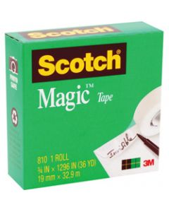 SCOTCH 810 MAGIC TAPE,19mmx33m,Roll