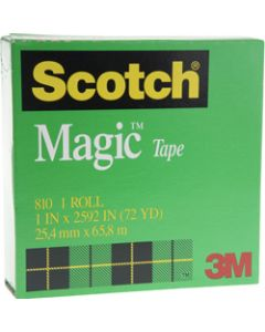 SCOTCH 810 MAGIC TAPE,25mmx66m,Roll
