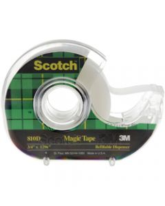 SCOTCH 810 MAGIC TAPE,19mmx33M With Dispenser