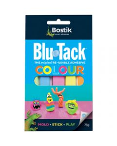 BOSTIK BLU-TACK,75gm Coloured Compact Pack