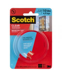 SCOTCH MOUNTING TAPE,410P 25mm x 1.5m,Clear