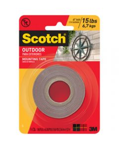 SCOTCH MOUNTING TAPE,411P Outdoor,2.5cm x 1.5m