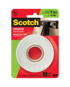 SCOTCH MOUNTING TAPE,110P Indoor,1.3cm x 1.9m