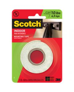 SCOTCH MOUNTING TAPE,114 Indoor,2.5cm x 1.3m
