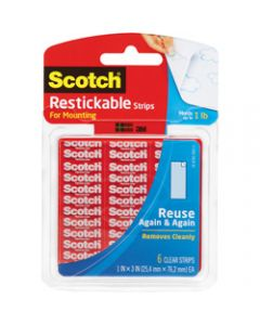 SCOTCH MOUNTING TAPE,R100 Restickable Squares Tabs,2.5cm x 2.5cm Clear