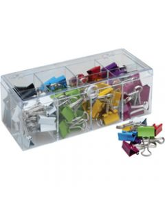CELCO FOLD-BACK CLIPS,19mm Assorted Coloured,Box of 96