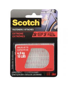 SCOTCH FASTENER STRIPS,6730 Extreme 2.5cm x 7.6cm,Clear Pack of 2
