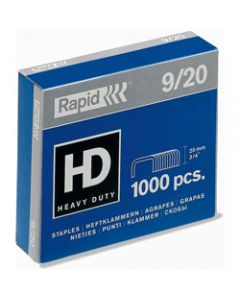RAPID STAPLES HEAVY DUTY,9/20 Super Strong,Box of 1000