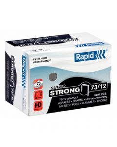 RAPID STAPLES HEAVY DUTY,73/12 Super Strong,Box of 5000