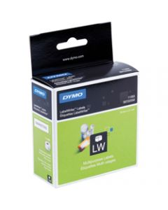 DYMO LABELWRITER LABELS,Paper 19mm x 51mm,White Box of 500