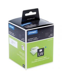 DYMO LABELWRITER LABELS,Paper Large Address 36x89,Box of 520