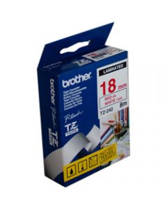 BROTHER TZE-242 P-TOUCH TAPE 18mmx8m Red On White