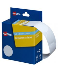 AVERY DMC24W DISPENSER LABEL,Circle 24mm White,Pack of 550