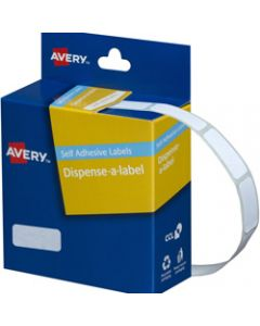 AVERY DMR1024W DISPENSER LABEL,Rectangle 10x24mm White,Pack of 1200