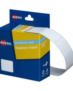 AVERY DMR1924W DISPENSER LABEL,Rectangle 19x24mm White,Pack of 650
